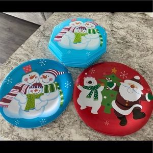Christmas Plates & Container